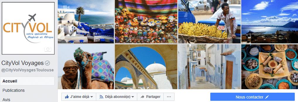 Page-Facebook-Cityvol-Voyages-agence-de-voyages-Toulouse-Bordeaux-Montpellier
